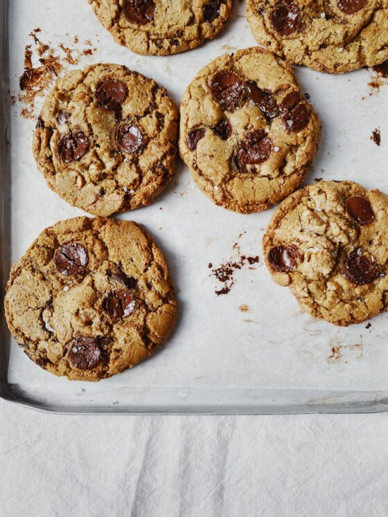 Walnut & spelt choc chip cookies